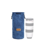 S.C.COTTON Liner Shockproof Digital Protection Portable SLR Lens Bag Micro Single Camera Bag Round Blue L