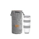 S.C.COTTON Liner Shockproof Digital Protection Portable SLR Lens Bag Micro Single Camera Bag Round Gray L
