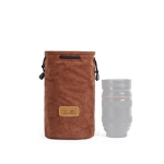 S.C.COTTON Liner Shockproof Digital Protection Portable SLR Lens Bag Micro Single Camera Bag Round Brown M