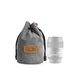 S.C.COTTON Liner Shockproof Digital Protection Portable SLR Lens Bag Micro Single Camera Bag Round Gray S