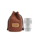 S.C.COTTON Liner Shockproof Digital Protection Portable SLR Lens Bag Micro Single Camera Bag Round Brown S
