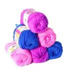 DIY Girl Knitting Scarf Hat Woolen Thread, Random Color Deilvery