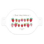 3 PCS Printing Table Mat Household Bowl Mat Simple Dirt Insulation Heat Insulation Pad(Strawberry )