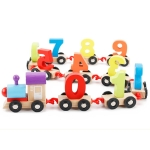 Wooden Number Train Toy Children Early Education Parent-Child Interaction Toys