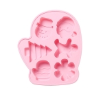 2 PCS Christmas Modeling DIY Chocolate Aromatherapy Gypsum Cake Silicone Mold(Pink)