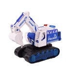 Children Light And Music Simulation Electric Excavator Car Toy, Style: Police Car