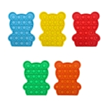 5 PCS Children Puzzle Mental Arithmetic Toy Silicone Pressing Table Game, Random Color Delivery(Bear)