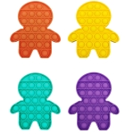 5 PCS Children Puzzle Mental Arithmetic Toy Silicone Pressing Table Game, Random Color Delivery(Character)