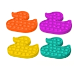 5 PCS Children Puzzle Mental Arithmetic Toy Silicone Pressing Table Game, Random Color Delivery(Duck)