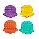 5 PCS Children Puzzle Mental Arithmetic Toy Silicone Pressing Table Game, Random Color Delivery(Octopus)