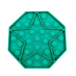 5 PCS Children Puzzle Mental Arithmetic Toy Silicone Pressing Table Game, Random Color Delivery(Octagon)