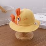 C0370 Cartoon Squirrel Shape Spring Baby Pot Hat Fisherman Hat, Size: Around 48cm(Yellow)