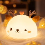 Cute Deer Silicone Pat Light Bedroom Colorful Night Light
