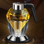 Diamond Oil Can Glass Dustproof Vinegar Oil Bottle One-Click Multi-Purpose Kitchen Seasoning Bottle