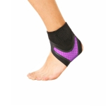 Neoprene Sports Ankle Support Ankle Compression Fixed Support Protective Strap, Specification: Left Foot (Purple)