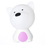 TQ-L02 LED Pat Silicon Night Light Dog Colorful USB Sleeping Bedside Light(Purple)