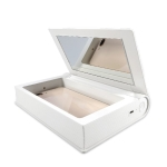 UVCXD001 Smart Induction Portable Multifunctional UV Disinfection Box Sterilization Beauty Storage Box with Mirror(White)