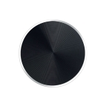 10 PCS CD Texture Aluminum Alloy Magnetic Sheet Magnetic Patch Set For Car Phone Holder, With Alcohol Cotton Sheet And Protective Film(Black)