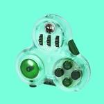 2 PCS Decompression Artifact Boring Vent Fingertip Rubik Cube Handle Fun Toy(Green)