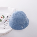 Winter Children Hats Baby Fisherman Hat Letter Basin Hat, Size: Cap Circumference About 50cm(Blue)