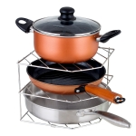 304 Stainless Steel Kitchen Pot Rack Dish Storage Rack Multifunctional Corner Rack Pentagonal Section