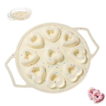 9-Hole Heart-Shaped Donut Baking Tool Framed Non-Stick Silicone Cake Mold