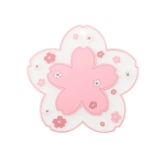3 PCS Home Cherry Blossoms Silicone Table Mat Non-Slip Mat Insulation Mat, Specification: Powder Pot Pad
