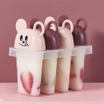 3 PCS Cartoon Mouse Popsicle Mold DIY Combination Ice Cream Mold(Pink)