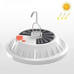 V61 Solar Power 60 LEDs UFO Rechargeable Light Household Emergency Light Bulb Outdoor Camping Night Market Stall Light