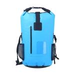 30L PVC Outdoor Waterproof Bag Hiking Mountaineering Waterproof Backpack(Blue)