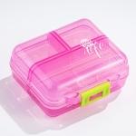 Mizi Small Pill Box Portable Dispensing Medicines Boxes, Colour: 7 Grid (Pink)