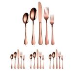 20 in 1 Stainless Steel Cutlery Steak Cutlery Set, Specification: Rose Gold