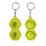 4 PCS Press Bubble Fun Mini Pressure Relief Fingertip Toy Silicone Finger Practice Keychain,Style: Hexagon (Green)