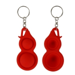 4 PCS Press Bubble Fun Mini Pressure Relief Fingertip Toy Silicone Finger Practice Keychain,Style: Small Gourd (Red)