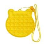 3 PCS Children Mathematical Logic Educational Toys Silicone Pressing Parent-Child Board Game, Style: With Rope (Yellow)