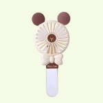Student Portable Beauty Mirror Comb Mini Handheld USB Fan, Colour: Folded Brown