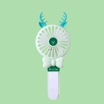 Student Portable Beauty Mirror Comb Mini Handheld USB Fan, Colour: Folded Green