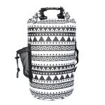 15L Retro Style Outdoor Sports Rafting Waterproof Bucket Bag Swimming Waterproof Backpack(White)