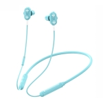 Bluetooth Earphone Sports Liquid Silicone Hanging Neck Headset Heavy Bass Stereo Earphone(Crystal Blue)