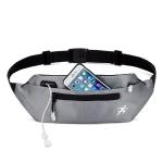 Marathon Exercise Gym Waist Bag Lightweight Waterproof Night Running Multifunctional Equipment Bag, Size: 8 inches(Gray)