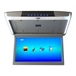 17.3 Inch Car Ceiling Display Car Full Viewing Angle HD Mp5 Ceiling Display(Gray)
