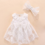 Toddler Girl Dress Group with Bowknot (Color:White Size:60)
