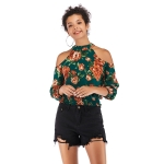 Character Slim All-match Blouse (Color:Green Size:M)