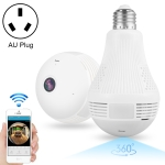 DP1 1.3 Million Pixels 360 Degrees Viewing Angle Light Bulb WiFi Camera, Support One Key Reset & TF Card & Night Vision, AU Plug
