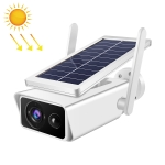 T13-2 1080P HD Solar Powered 2.4GHz WiFi Security Camera with Battery, Support Motion Detection, Night Vision, Two Way Audio, TF Card
