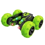 [US Warehouse] 2.4G Wireless Remote Control Car Toy Double Sided 360 Degree Rotating Stunt Car with Headlight