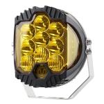 OL-1950Y 7 inch DC12V-30V 8000LM 6500K 90W Car LED Light on Three Sides Headlight for Jeep Wrangler (Gold Light)
