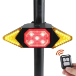 USB Rechargeable Bicycle Turn Light Wireless Remote Control Bike Tail Light