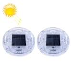 2 PCS Solar LED Flashing Light Car Rear-end Collision Warning Lights, Strong Magnetic Constantly Bright Version