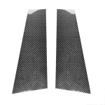 2 in 1 Car Carbon Fiber B-pillar Decorative Sticker for Mercedes-Benz CLAW117 2013-2019, Left and Right Drive Universal